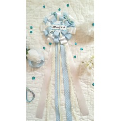 Baby Shower Corsage Light Blue