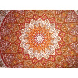 Indian Cotton Red Manav Star Bohemein Tapestry,Wall Decor,Wall hanging Tapestry,Wall Decor,Docorative.