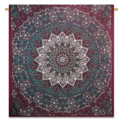 Indian Cotton Maroon Manav Star Bohemein Tapestry,Wall Decor,Wall hanging Tapestry,Wall Decor,Docorative.