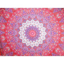 Indian Cotton Pink Manav Star Bohemein Tapestry,Wall Decor,Wall hanging Tapestry,Wall Decor,Docorative.