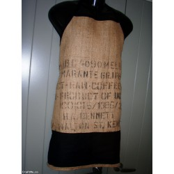 Repurposed Coffee Sack Man BBQ apron