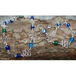 Squiggle necklace and bracelet set, handcrafted by a New Zealand jewellery designer.