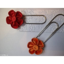 kanzashi bloom bookmark