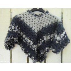 Gorgeous Hand-made Crochet Girl's Poncho Style.