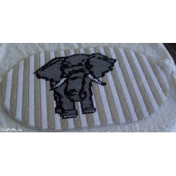 Plastic Canvas Elephant Placemat