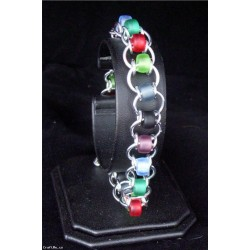 Handmade Aluminium Coloured Beaded Womens Bracelet Jewellery