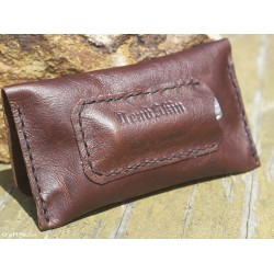 Handmade Brown Leather Tobacco pouch Australian made by DEADSKIN